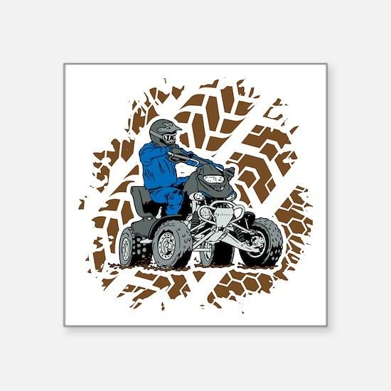 """Off Road ATV 4X4 Square Sticker 3"""" x 3"""""""