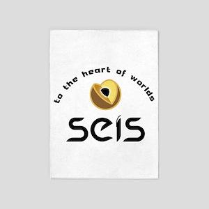 SEIS: InSight's Heart 5'x7'Area Rug
