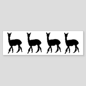 Strolling Alpaca Bumper Sticker