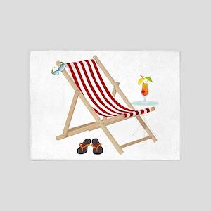 Beach Chair 5'x7'Area Rug