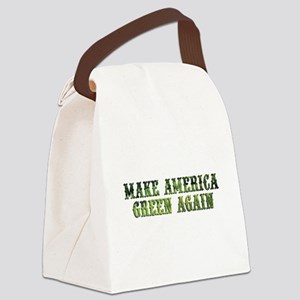 GreenAgainTransparent Canvas Lunch Bag