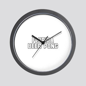 Florida Beer Pong Wall Clock