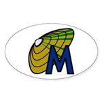 MUSSELp Icon Oval Sticker