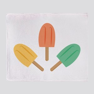 Popsicles Throw Blanket
