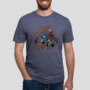 ATV Four Wheel Off Road Mens Tri-blend T-Shirt