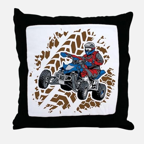 ATV Four Wheel Off Road Throw Pillow