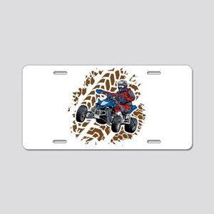 ATV Four Wheel Off Road Aluminum License Plate