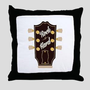 Rock Hard Throw Pillow