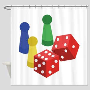 Pawns & Dice Shower Curtain