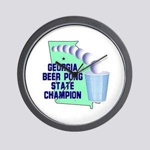 Georgia Beer Pong State Champ Wall Clock