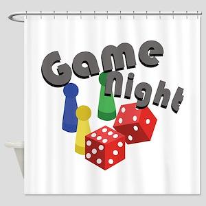 Game Night Shower Curtain