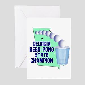 Georgia Beer Pong State Champ Greeting Cards (Pk o
