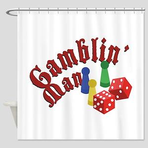 Gamblin Man Shower Curtain
