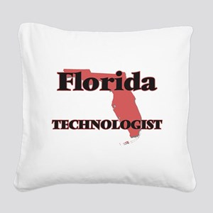 Florida Technologist Square Canvas Pillow