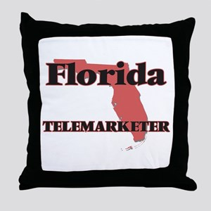 Florida Telemarketer Throw Pillow