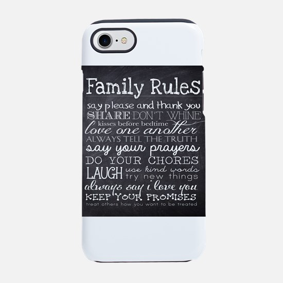 Family Rules iPhone 8/7 Tough Case