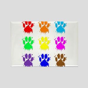 Ink Splatter Dog Paw Pattern Magnets