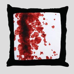 Bloody Mess Throw Pillow