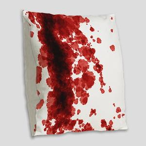 Bloody Mess Burlap Throw Pillow