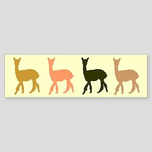 Strolling Alpaca Sticker (multi) (Bumper)
