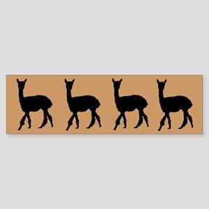 Strolling Alpaca Sticker (brown/blk) (Bumper)