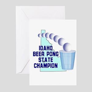 Idaho Beer Pong State Champio Greeting Cards (Pk o