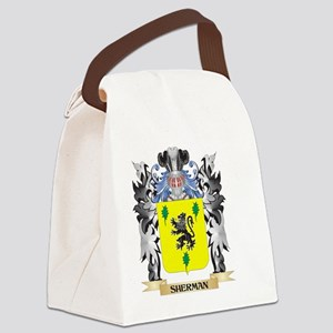 Sherman Coat of Arms - Family Cre Canvas Lunch Bag