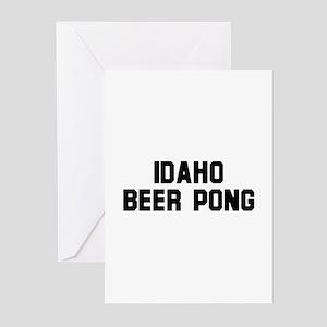 Idaho Beer Pong Greeting Cards (Pk of 10)