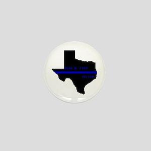 Thin Blue Line Back The Blue Texas Mini Button