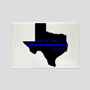 Thin Blue Line Back The Blue Texas Magnets