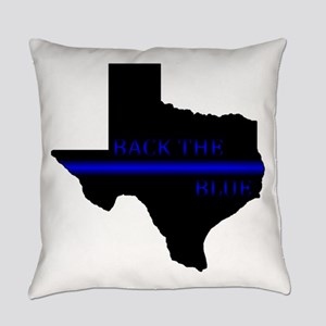 Thin Blue Line Back The Blue Texas Everyday Pillow