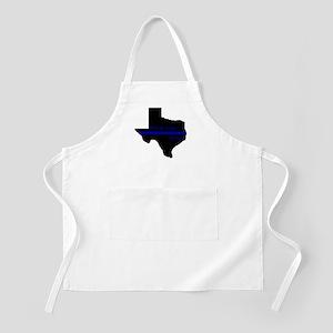 Thin Blue Line Back The Blue Texas Apron