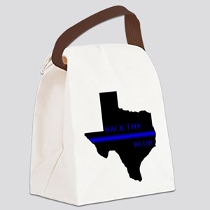 Thin Blue Line Back The Blue Texas Canvas Lunch Ba