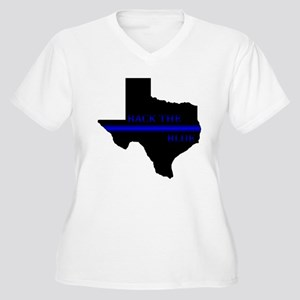 Thin Blue Line Back The Blue Texas Plus Size T-Shi