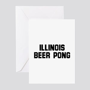 Illinois Beer Pong Greeting Cards (Pk of 10)