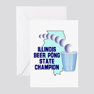 Illinois Beer Pong State Cham Greeting Cards (Pk o