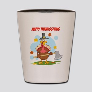 Happy Thanksgiving Shot Glass