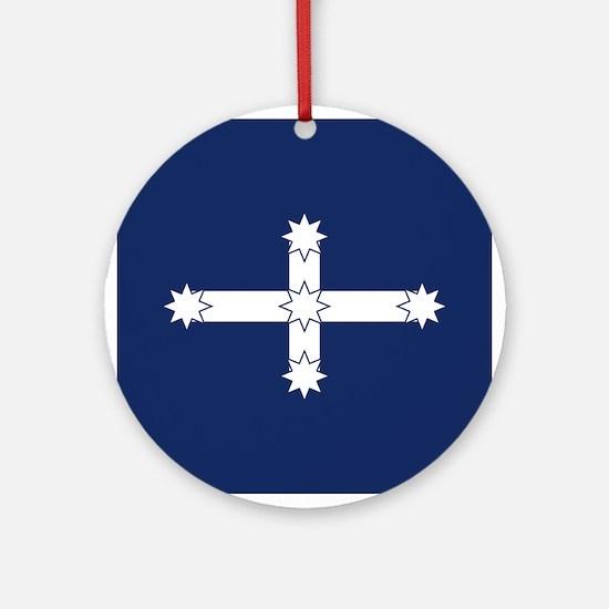 Eureka Flag Round Ornament