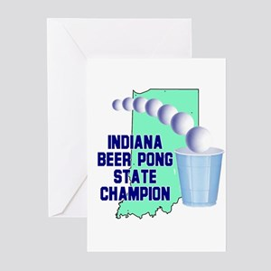 Indiana Beer Pong State Champ Greeting Cards (Pk o