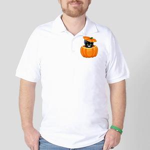Pumpkin Cat Golf Shirt