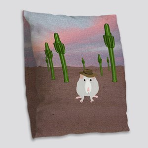 Desert Rats Burlap Throw Pillow