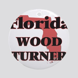 Florida Wood Turner Round Ornament