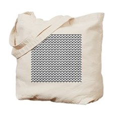 Chic Black White Pattern Tote Bag
