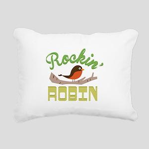 Rockin Robin Rectangular Canvas Pillow