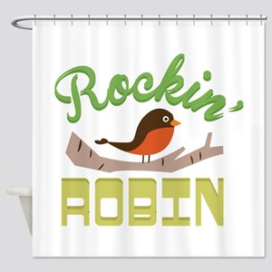 Rockin Robin Shower Curtain