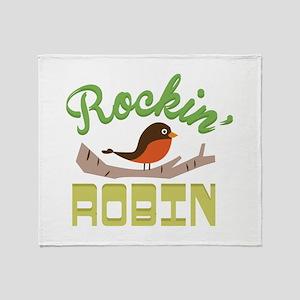 Rockin Robin Throw Blanket