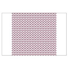 Bright Cranberry Hearts Large Poster