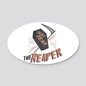 Don't Fear The Reaper Oval Car Magnet