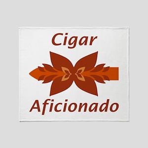 Cigar Aficionado Throw Blanket
