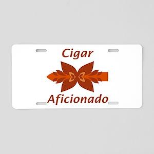 Cigar Aficionado Aluminum License Plate